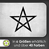 Pentagramm Wandtattoo in 6 Größen - Wandaufkleber Wall Sticker