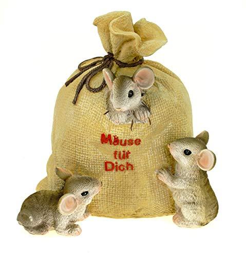 Spardose Sack Mäuse für Dich mit Schloß