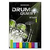 Drum Quest Stage 1: Die Schlagzeugschule für Anfänger. Einfach Schlagzeug lernen. Schlagzeug Buch Songbuch mit Bonus-Material (DEU)
