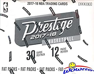 2017/18 Panini Prestige NBA Basketball MASSIVE Factory Sealed JUMBO FAT PACK Retail Box with 360 Cards & AUTOGRAPH! Look for RC & AUTOGRAPHS of Donovan Mitchell,Jayson Tatum,Lonzo Ball & More! WOWZZER