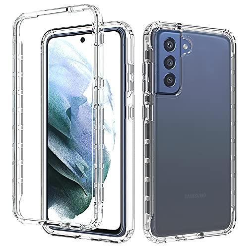 Handyhülle für Samsung Galaxy S21 FE Hülle,Militärische Rüstung Hülle Handyhülle Unzerbrechlicher 360 Grad Bumper Schutzhülle PC+TPU Case,für Samsung Galaxy S21 FE mit Schutzfolie Panzerglas