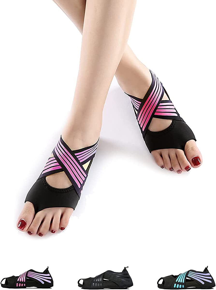 Risefit Non Slip Yoga cheap Socks Anti-Skid with Direct sale of manufacturer Pilates Toeless Grip