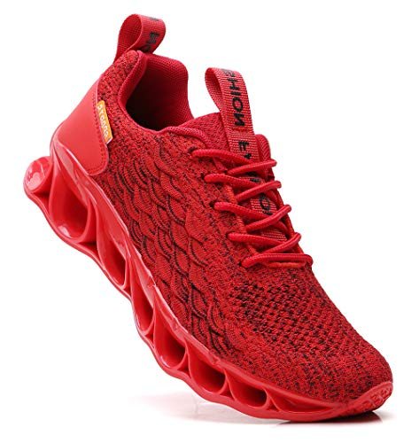 SKDOIUL Sneakers for Men Sport Running Shoes Athletic Tennis Walking Shoes Fashion Sneaker mesh Breathable red Size 12
