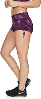 Rockwear Activewear Women's Very Berry Rouched Booty Short from Size 4-18 for Booty Low Bottoms Leggings + Yoga Pants+ Yoga Tights