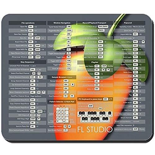 Fl Studio Tastatur Shortcuts mit Obst rutschfestem Gummi-Mauspad, Gaming-Mauspad