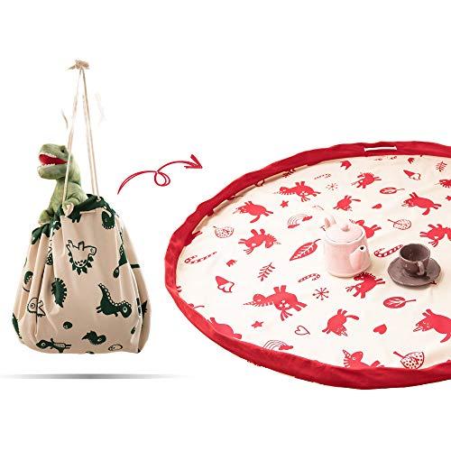 snugo® Einhorn Aufräumsack Made in Germany | Spielsack & Spielmatte in Einem für Kinder & Baby | Ideal für die Aufbewahrung von Spielzeug, Lego und Spielsachen