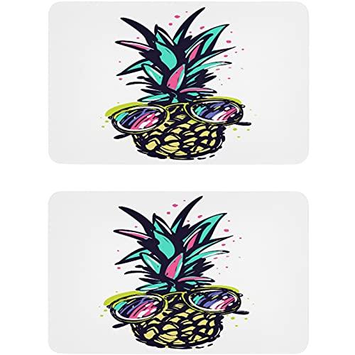 Vnurnrn Divertidos gafas de piña acuarela fruta lavavajillas imán refrigerador placa magnética placa decorativa para cocina oficina arandela indicador 2 piezas