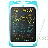 Jasonwell Kids Drawing Pad Doodle Board 12' Colorful Toddler Scribbler Board Erasable LCD Writing Tablet Light Drawing Board Educational and Learning Toys Gifts for 3 4 5 6 7 8 Year Old Girls Boys