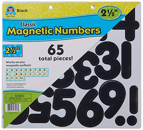 """Black Classic 2 1/2"""" Magnetic Numbers (TCR77218) Photo #3"""