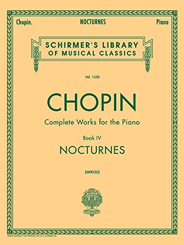 Nocturnes: Piano Solo: Schirmer Library of Classics Volume 1550 Piano Solo