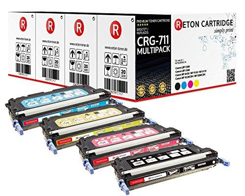 Original Reton Toner, kompatibel, 4er Farbset für 711 (1660B002 / 711BK, 1659B002 / 711C, 1657B002 / 711Y, 1658B002 / 711M)IMAGECLASS MF9130C, MF9170C, MF9220CDN, MF9280CDN, LBP-5300, 5360, 5400, 5630