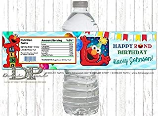 10 ELMO 2nd Birthday Water Bottle Labels ANY AGE Elmo Party Favors Elmo Party Decorations Water Bottle Labels