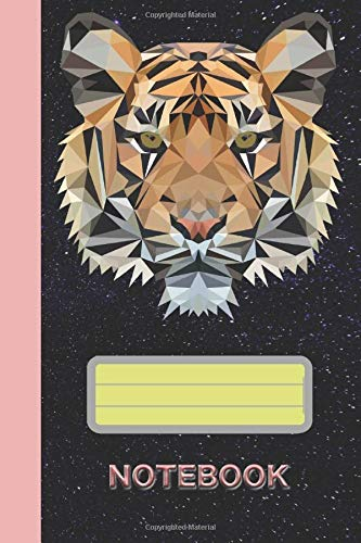 NOTEBOOK: Tiger Polygon: Great bullet journal - 120 dotted pages to record notices in many times, ideas and thoughts | ca. DINA5 | gift for big cats fans Paperback
