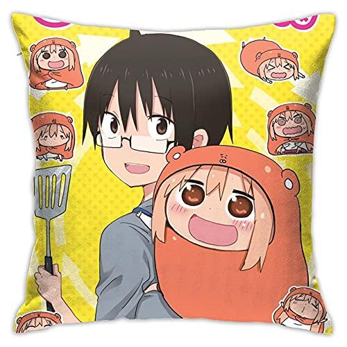 ZCHW Anime Himouto! Funda de Almohada Umaru-Chan, Funda de Almohada para Sala de Estar, sofá, Cama, Funda de cojín para Coche, 45X45 CM