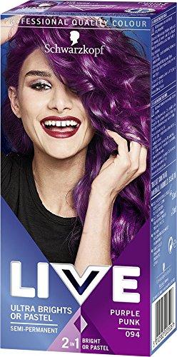 Schwarzkopf Live Ultra Bright or Pastel Hair Dye, Semi-Permanent Colour Intense...