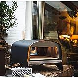 Ezooza Horno para pizza y pan Ventura Híbrido Alimentado a leña, gas o pellets de acero inoxidable Temperatura máxima 500ºC