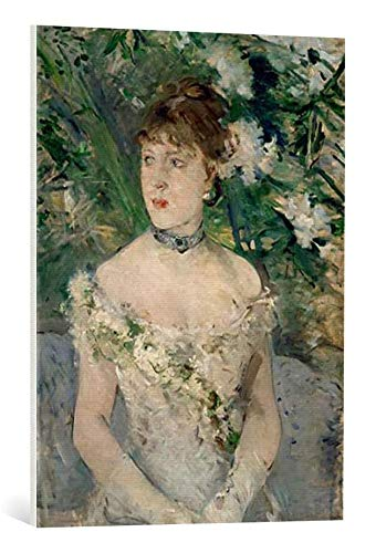 kunst für alle Leinwandbild: Berthe Morisot Junge Frau im Ballkleid - hochwertiger Druck, Leinwand auf Keilrahmen, Bild fertig zum Aufhängen, 60x80 cm