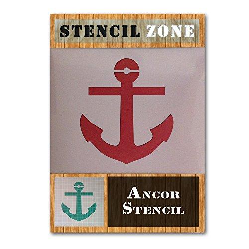 Anchor Meer Schiff Piratenschiff Seil Mylar Airbrush Malerei Wand-Kunst-Handwerk-Schablone (A6 Größe Stencil - XXSmall)