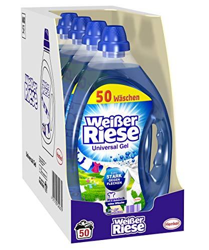 Weißer Riese Universal Gel, Flüssigwaschmittel, 200 (4 x 50) Waschladungen, extra stark gegen Flecken
