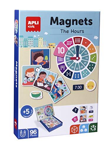 APLI Kids- Aprendo Las Horas Juego Magnético, Multicolor (18573)