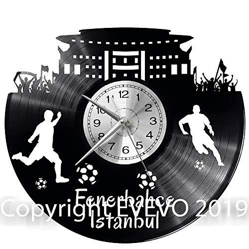 WoD Istanbul Fenerbahce Wanduhr Vinyl Schallplatte Retro-Uhr groß Uhren Style Raum Home Dekorationen Tolles Geschenk Uhr