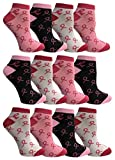 Pink Ribbon Breast Cancer Awareness Ankle/Crew Socks for Women (Assorted Ankle F, 9-11) -  Yacht & Smith