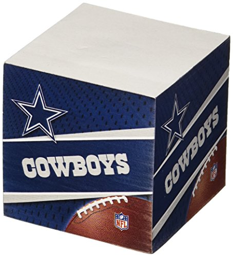 Dallas Cowboys 2.75-Inch Sticky Note Cube, 550 pages - NFL (CUS-QUG)