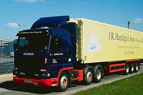 Metalen bord 780038 1996 Zweedse Scania 6 wielen trekker en aanhangwagen A4 12X8 Aluminium