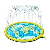 GLLP Los aspersores de la Almohadilla de Salpicaduras de los niños, los Juguetes de Agua Oval al Aire Libre de los niños para niños y niñas, Piscinas inflables Poco Profundas y Piscinas (Amarillo)