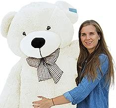 """Joyfay Giant Teddy Bear, White- Over 6ft (78"""") Teddy Bear in Bold White with Velvety Plush Velour. Christmas Bear"""