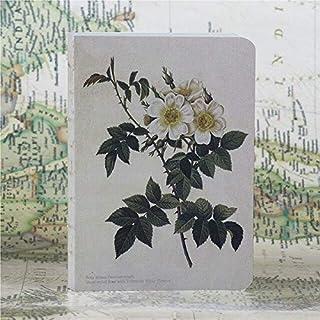 دفاتر الملاحظات - 220 صفحة مبتكرة مرسومة باليد من سلسلة الورد، دفتر يوميات وكتاب رسم وهدايا الكريسماس (C)
