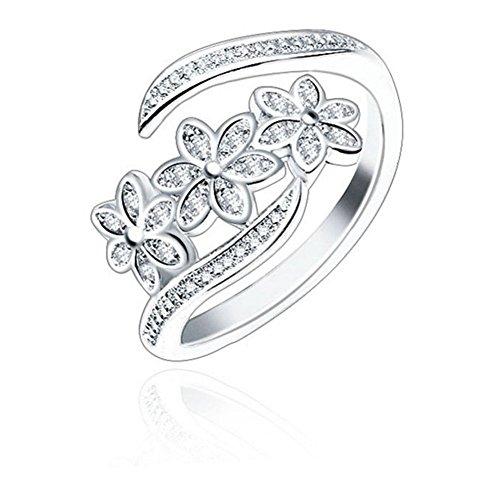 AUIN, anello aperto in argento 925 con delfino, gioiello, accessorio, regalo per amici, amanti, misura regolabile, in un sacchetto portagioielli e Argento, cod. SY573/SY574