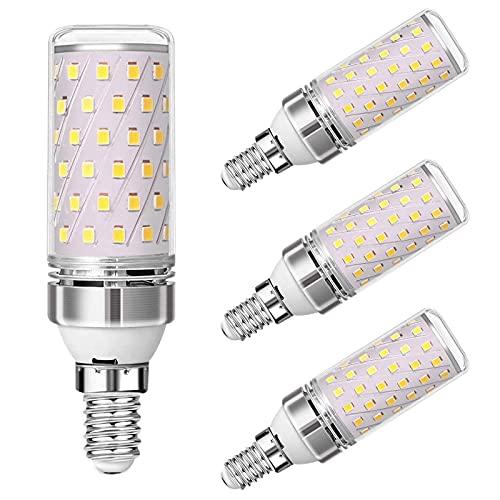 E14 Bombilla LED de maíz de 12 W (Equivalente a halógeno de 120 W) CA 110 V-120 V / 220 V-240 V 1320LM 3000 K / 6000 K No Regulable para Nevera/Campana extractora/iluminación del hogar - Paquete