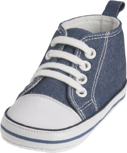 Playshoes Baby Canvas-Turnschuhe, Blau (jeansblau 3) 17