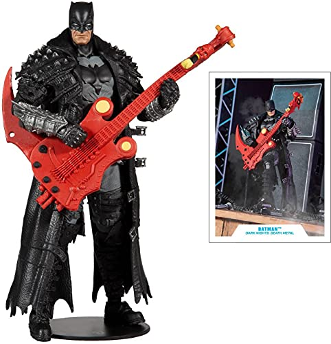 "McFarlane Toys DC Multiverse Dark Nights: Death Metal Batman 7"" Action Figure with Build-A 'Darkfather' Parts"