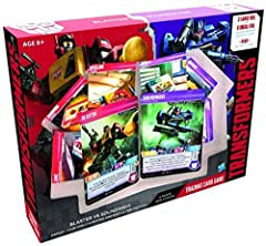 2 complete and ready-to-play teams and decks 2 fan favourite transformer characters Everything you need to battle!