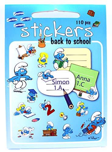 N\A Die Schlümpfe (Smurfs) Stickers zu dem Thema Schule, 110 Verschiedene Motive