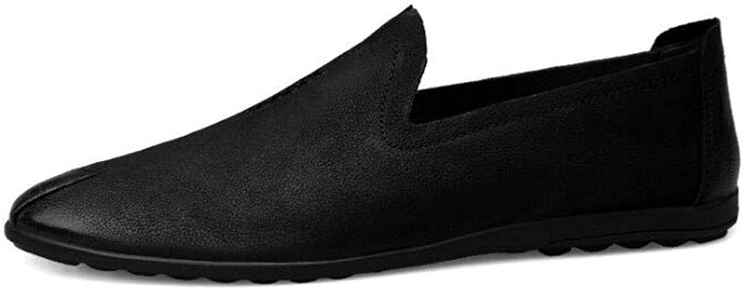 Y-H Mens Casual shoes,Spring Fall Formal shoes,Mens Loafers & Slip-Ons Lazy shoes, Walking Gym shoes Trekking Travel shoes Formal Business Work,Black,43