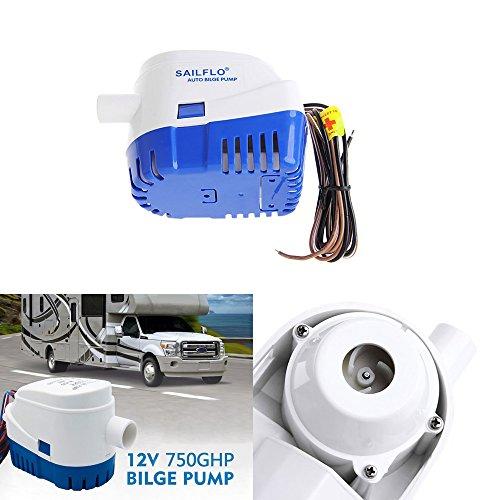 Houkiper Automatische Bilge Pumpen 750 GPH Boot 12 V Marine Auto Bilgepumpe Tauchpumpe Auto Wasserpumpe Schwimmerschalter