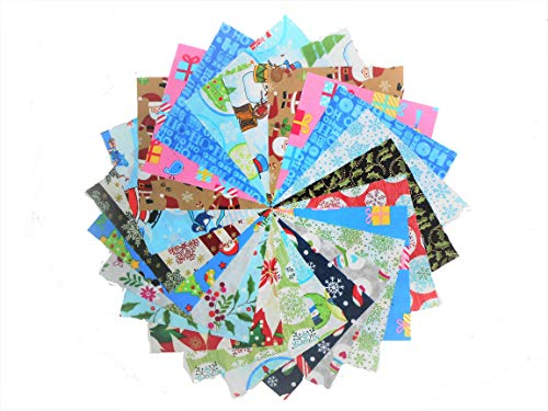 80 5' Beautiful Christmas Charm Pack # 1-20 Different Prints-4 of Each #1