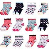 Libella 12er Kinder Mädchen Socken Kids Strümpfe Kindersocken bunt 2118 27-30
