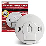 Kidde 21028502 AC/DC Wire-in Smoke Alarm Detector with TruSense Technology | Front Load