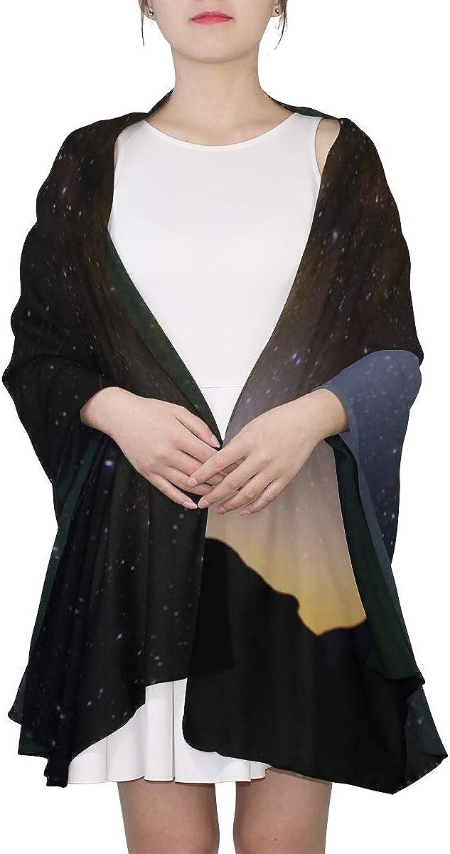 Large Scarf For Women Beautiful Night Star Sky Body Shawl Wrap Womens Soft Scarf Lightweight Print Scarves Fashion Scarf Lightweight Little Girls Scarfs Fashion