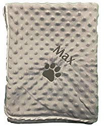 HOW TO ORDER: Choose your colour, click Customize Now. In the box type the personalised Name you would like, upto 15 letters. Add to Basket. Cute Personalised Blanket with Embroidered Design. These blankets are perfect for any furry addition to the f...