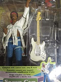 Jimi Hendrix Woodstock Festival Action Figure with Guitar and Amps By Mcfarlane by Spawn