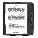 Duragadget - Funda de piel para lector digital Kobo by Fnac Kobo Libra H2O, a medida, color negro