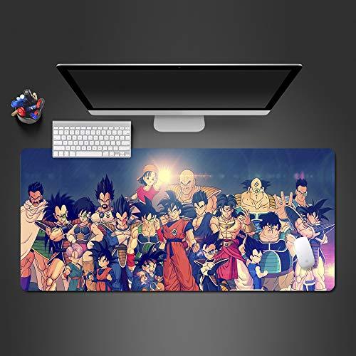 ZNNBH Computer Gaming Großes Mauspad - Schreibtischunterlage - 800x300mm - XXL Mousepad - Planet Aurora Charakter - Rutschfester Gummibasis und Wasserdichter Oberfläche Tastatur Mouse Pad - abwaschbar