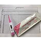 Termómetro de ovulación digital BBT Centígrado (Celsius) + Tabla de fertilidad + 1 Palo de embarazo de flujo medio