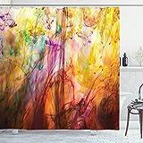 ABAKUHAUS Modern Duschvorhang, Regenbogen Bild, Wasser Blickdicht inkl.12 Ringe Langhaltig Bakterie & Schimmel Resistent, 175 x 180 cm, Multicolor
