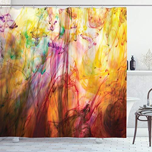 ABAKUHAUS Modern Duschvorhang, Regenbogen Bild, Wasser Blickdicht inkl.12 Ringe Langhaltig Bakterie & Schimmel Resistent, 175 x 200 cm, Multicolor